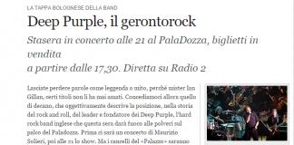 Intervista Gillan Corriere Bologna 2009
