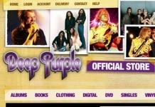 screenshot dello store ufficiale dei deep purple