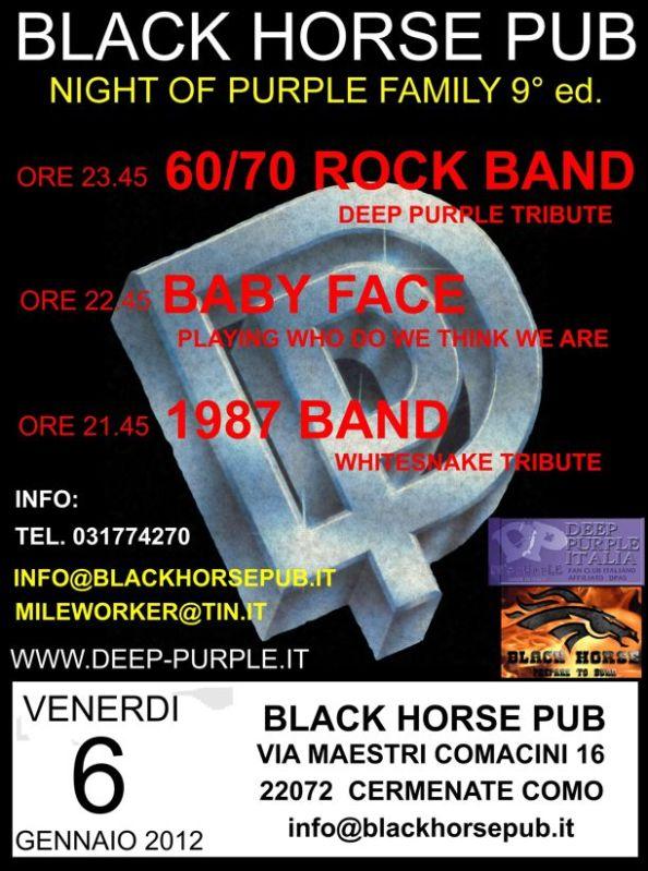 Locandina Deep Purple Night 2012