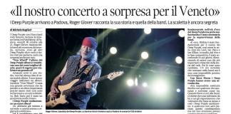 Roger Glover intervista Mattino di Padova 25 10 15