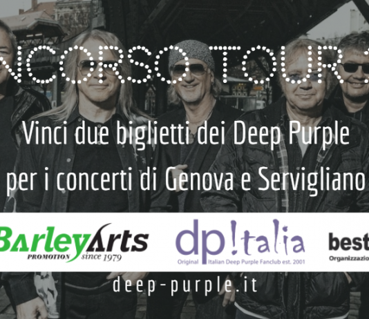 Concorso Deep Purple Italia Tour 2016