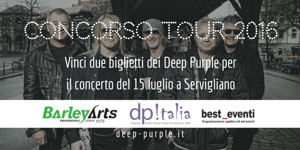 Concorso Deep Purple Italia Tour 2016 Servigliano