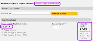 Sconto Deep Purple Italia Autobus Servigliano
