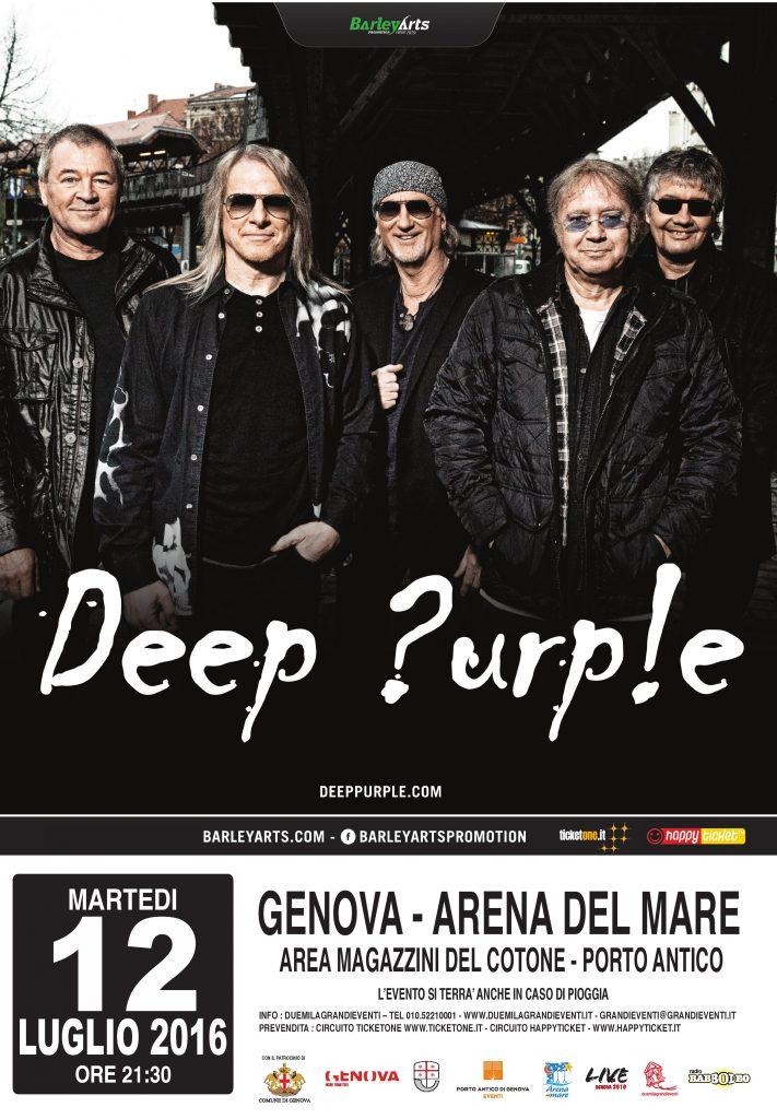 Locandina Deep Purple Genova 2016