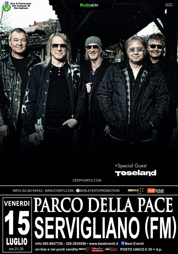 Locandina Deep Purple Servigliano 2016